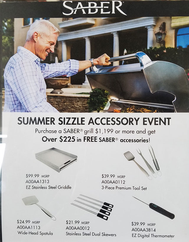Special Offer from Saber Grills!